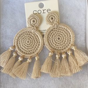 Cute boutique earrings. Ivory color.Brand new.